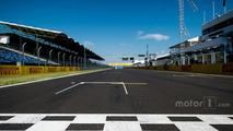 The start / finish straight at Hungaroring