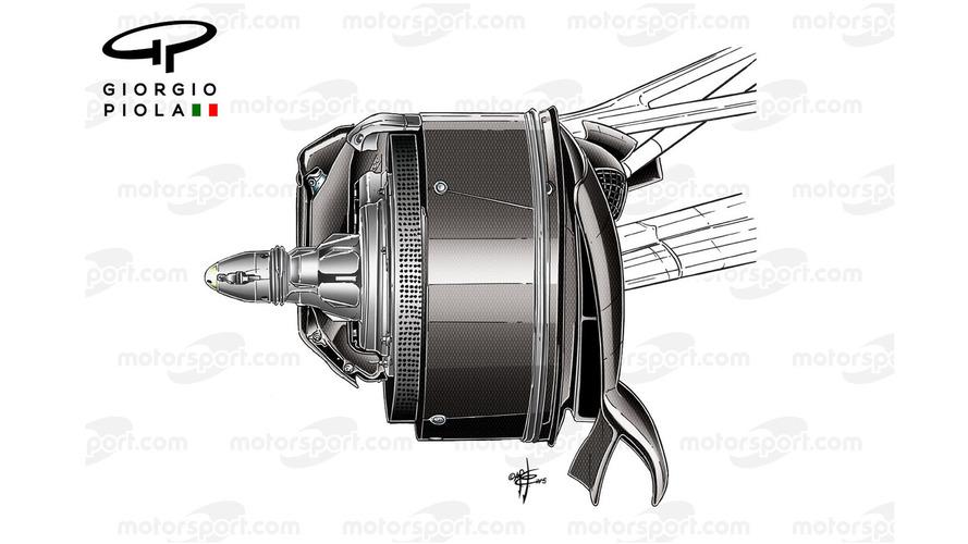 Mercedes W07 brake duct, Canadian GP