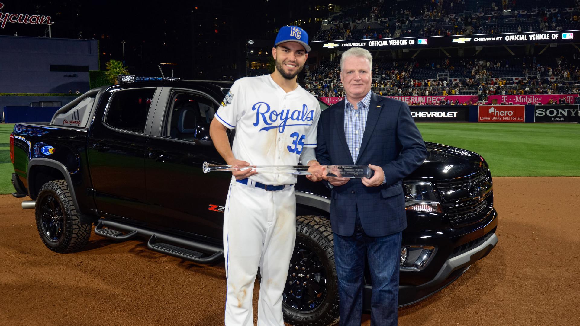 MLB All Star MVP s keys to a Chevy Colorado Diesel Midnight Edition