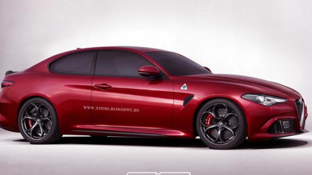 Alfa Romeo Giulia QV coupe render