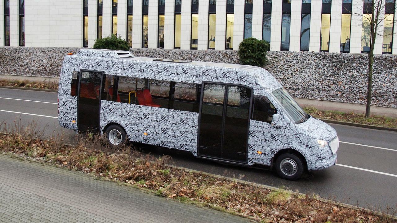 Mercedes-Benz minibus camouflaged prototype