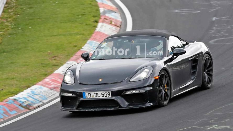 Porsche 718 Boxster Spyder Spied Lapping The Nürburgring