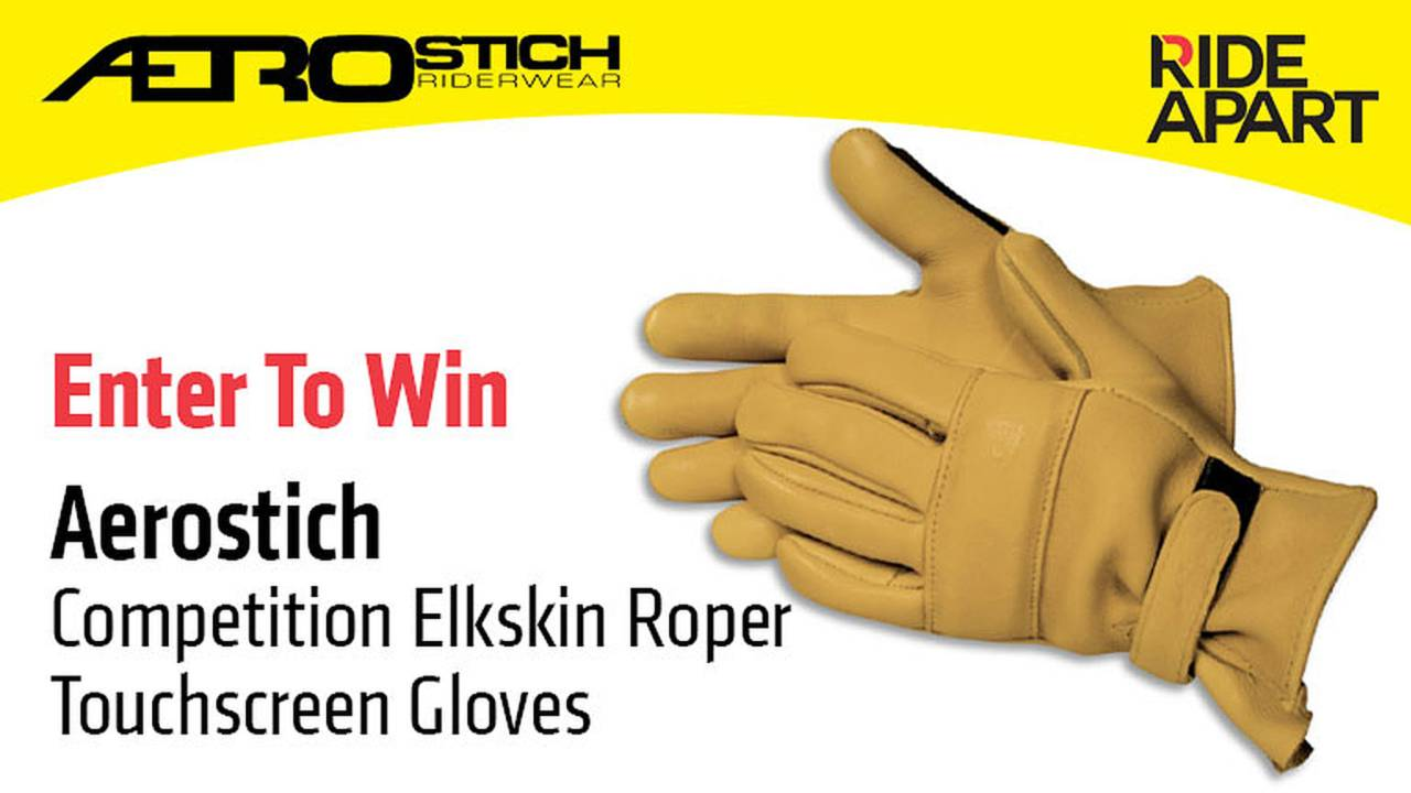 Enter to Win Aerostich Competition Elkskin Roper Touchscreen Gloves