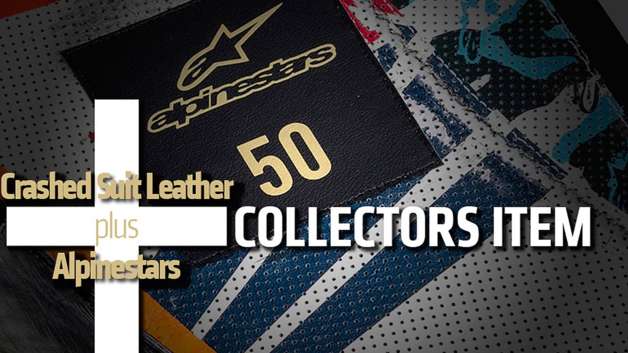 Crashed Suit Leather + Alpinestars = Collectors Item