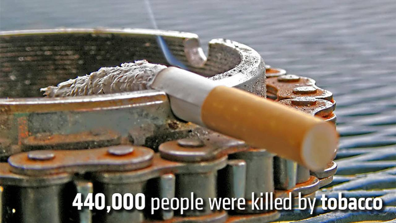 440,000 people were killed by tobacco