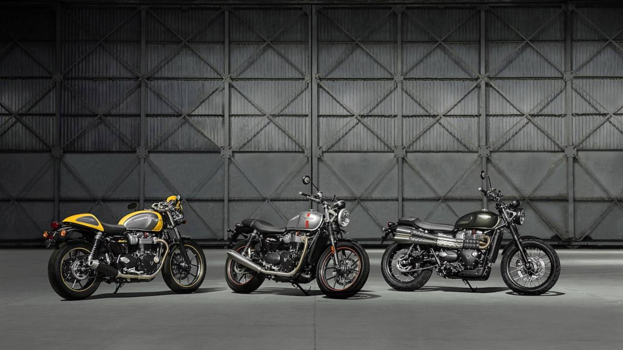 The Street Scrambler is part of the same family as the Street Twin and Street Cup