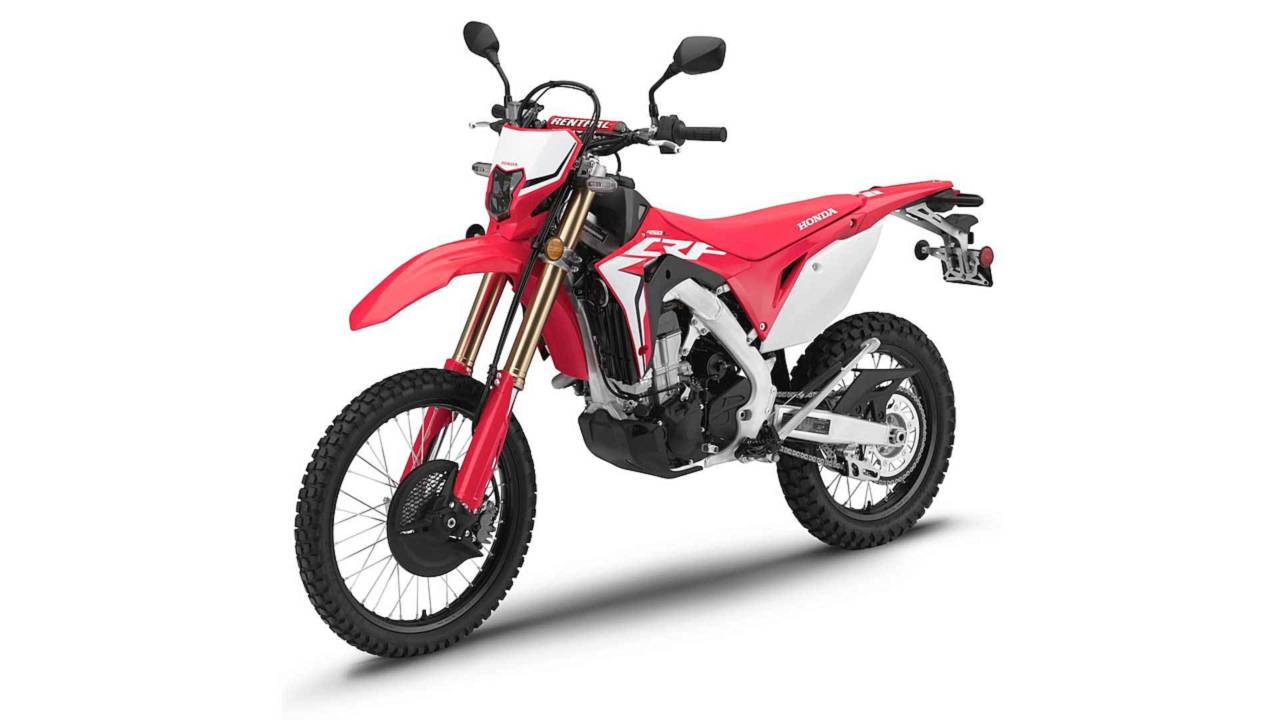 The new street legal CRF450L lets you go nearly anywhere with ease.