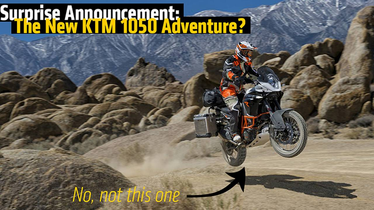 Surprise Announcement: The New KTM 1050 Adventure?