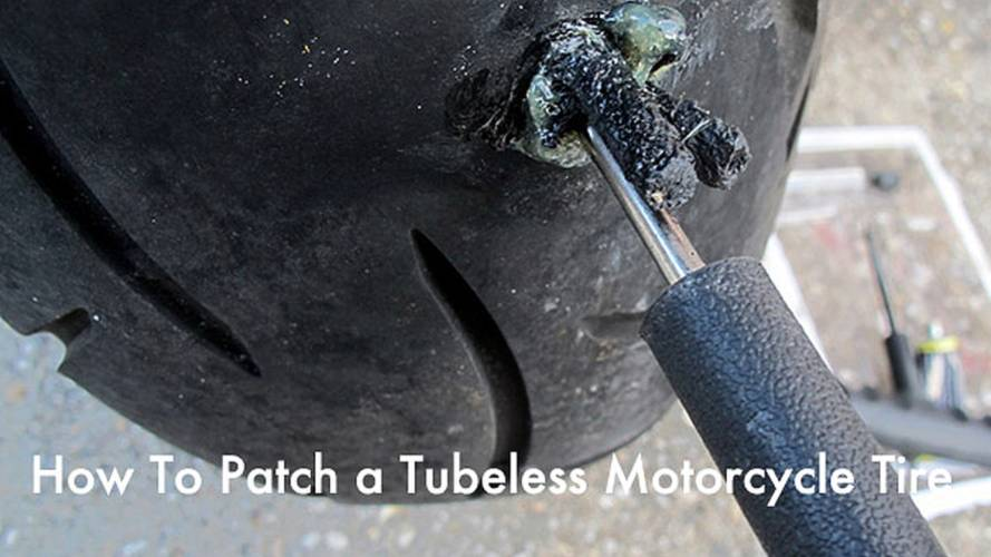 How To Patch a Tubeless Motorcycle Tire