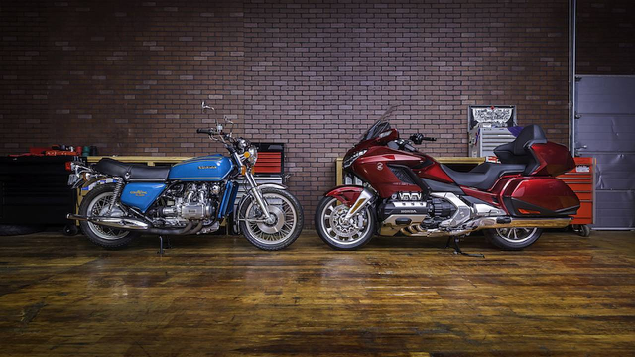 <em>1975 Honda Gold Wing vs 2018 Honda Gold Wing</em>