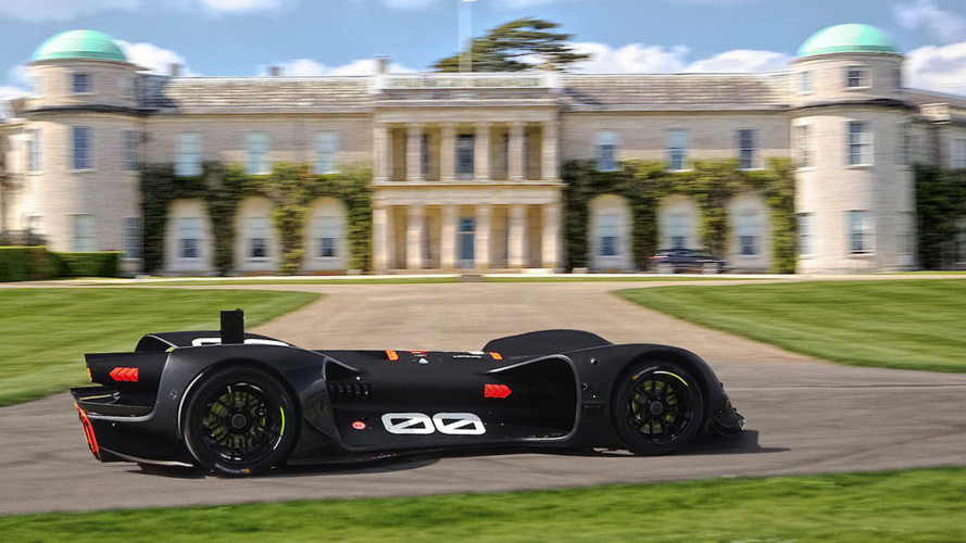 Autonomes Robocar beim Goodwood Hill Climb