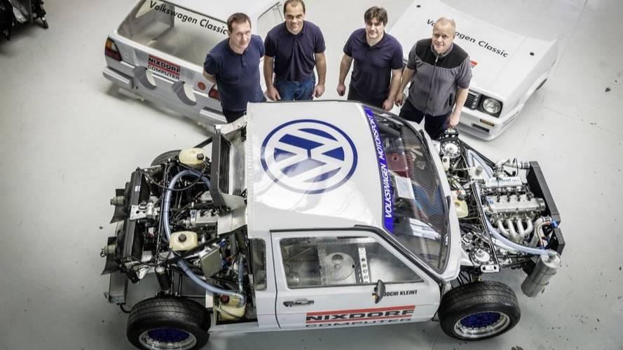 Újjáépítette a VW a '87-es Pikes Peak-en rajthoz álló kettes Golfot