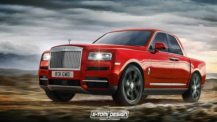 Rolls-Royce Cullinan Rendered As Pickup, Convertible, Coupe