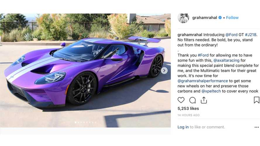 Graham Rahal's New Ford GT Looks Pretty In Purple