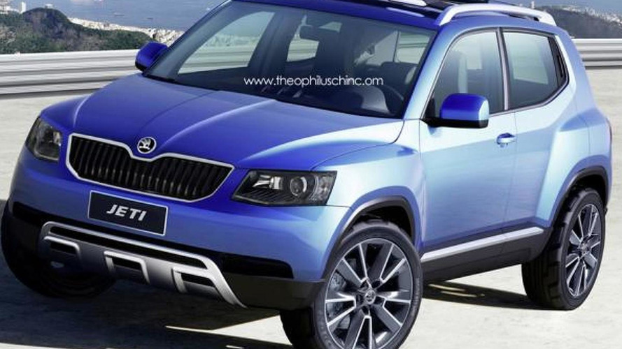 Skoda Jeti and Citigo Softtop rendered