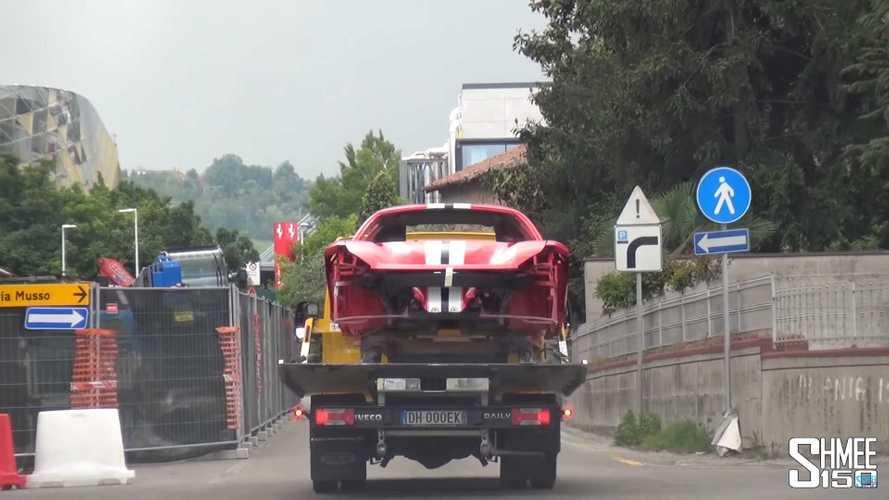 Ferrari F8 Tribuo Emissions Testing