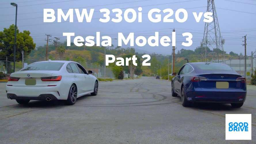 Tesla Model 3 Compared To BMW 330i: Overall Driving Experience & Race