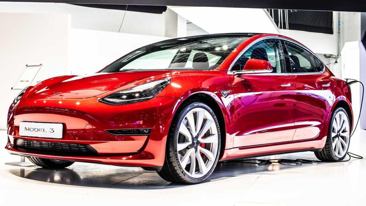 Tesla Model 3 at Brussels Motor Show