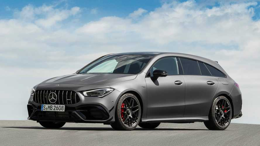 Mercedes-AMG CLA 45 Shooting Brake Debuts Its Shapely Long Roof Lines