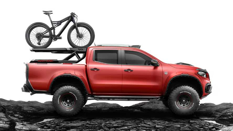 Mercedes X-Class looks hip with fancy bike rack