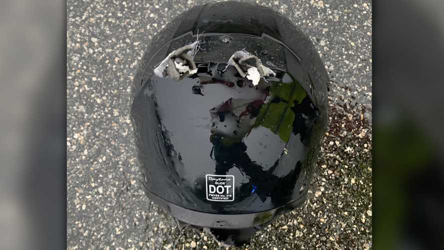 Motorcyclist dies after lightning strikes his helmet