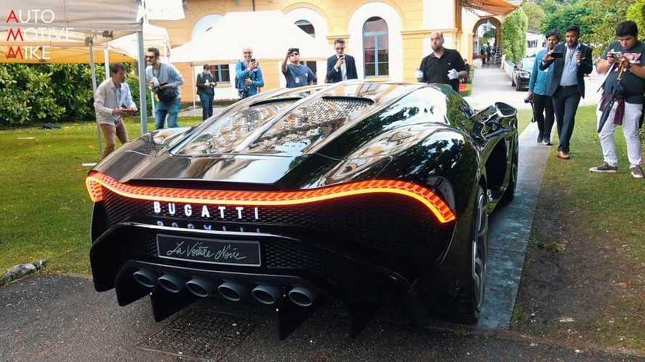 bugatti la voiture noire under natural light at villa d u0026 39 este
