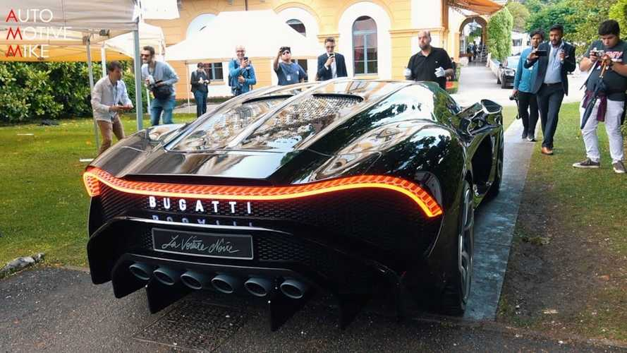 Bugatti La Voiture Noire under natural light at Villa d'Este