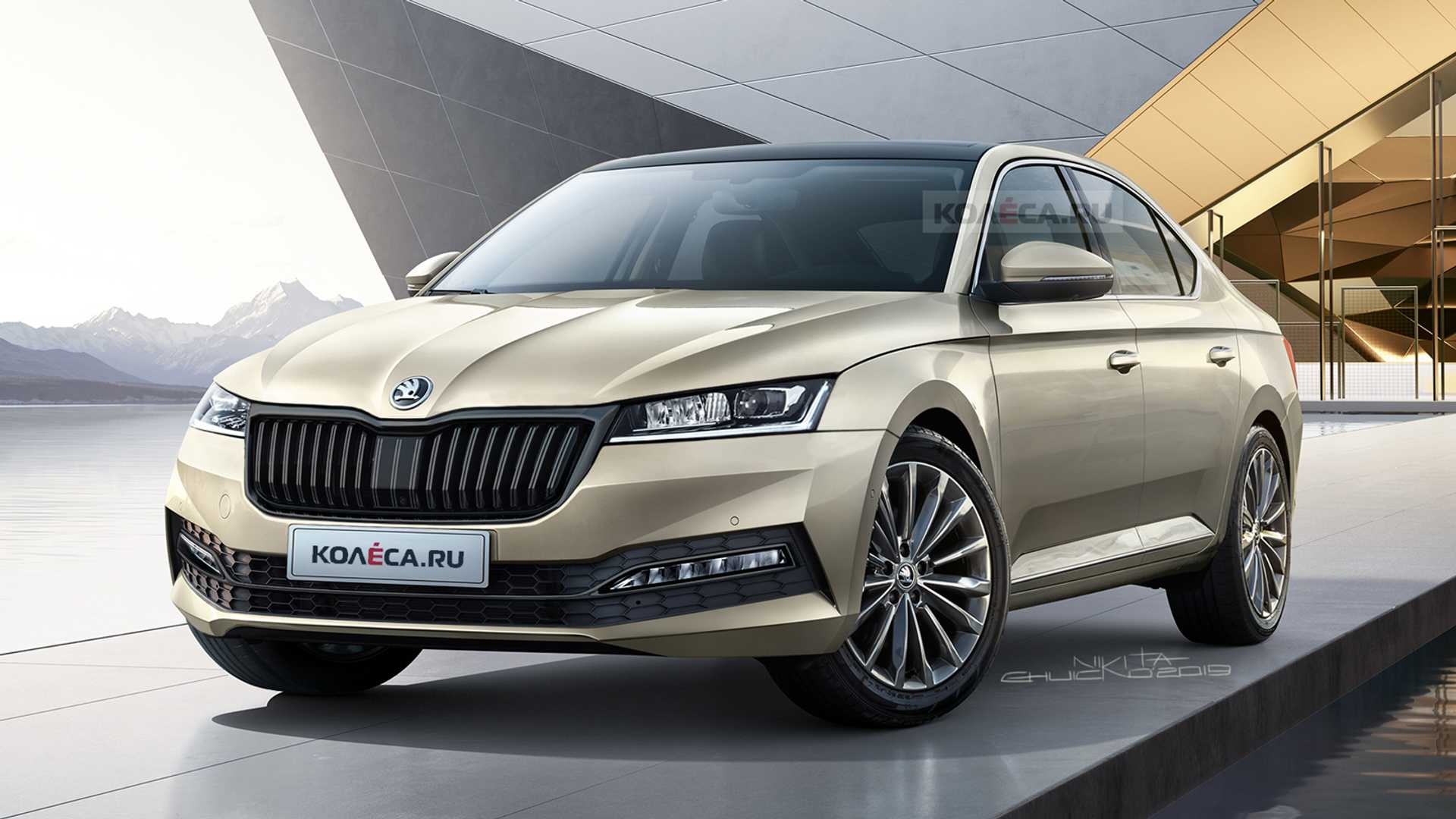 2020 New Skoda Superb Wallpaper