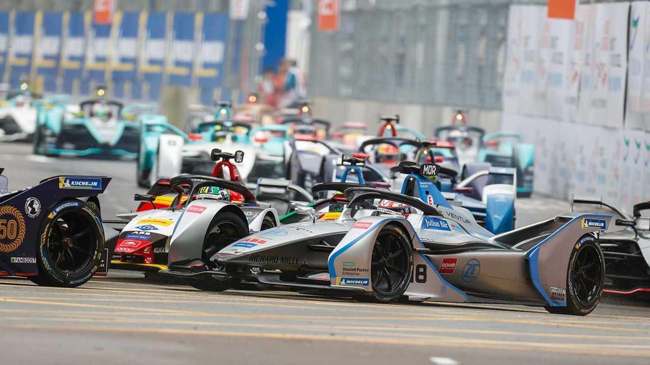 Les Formule E en piste