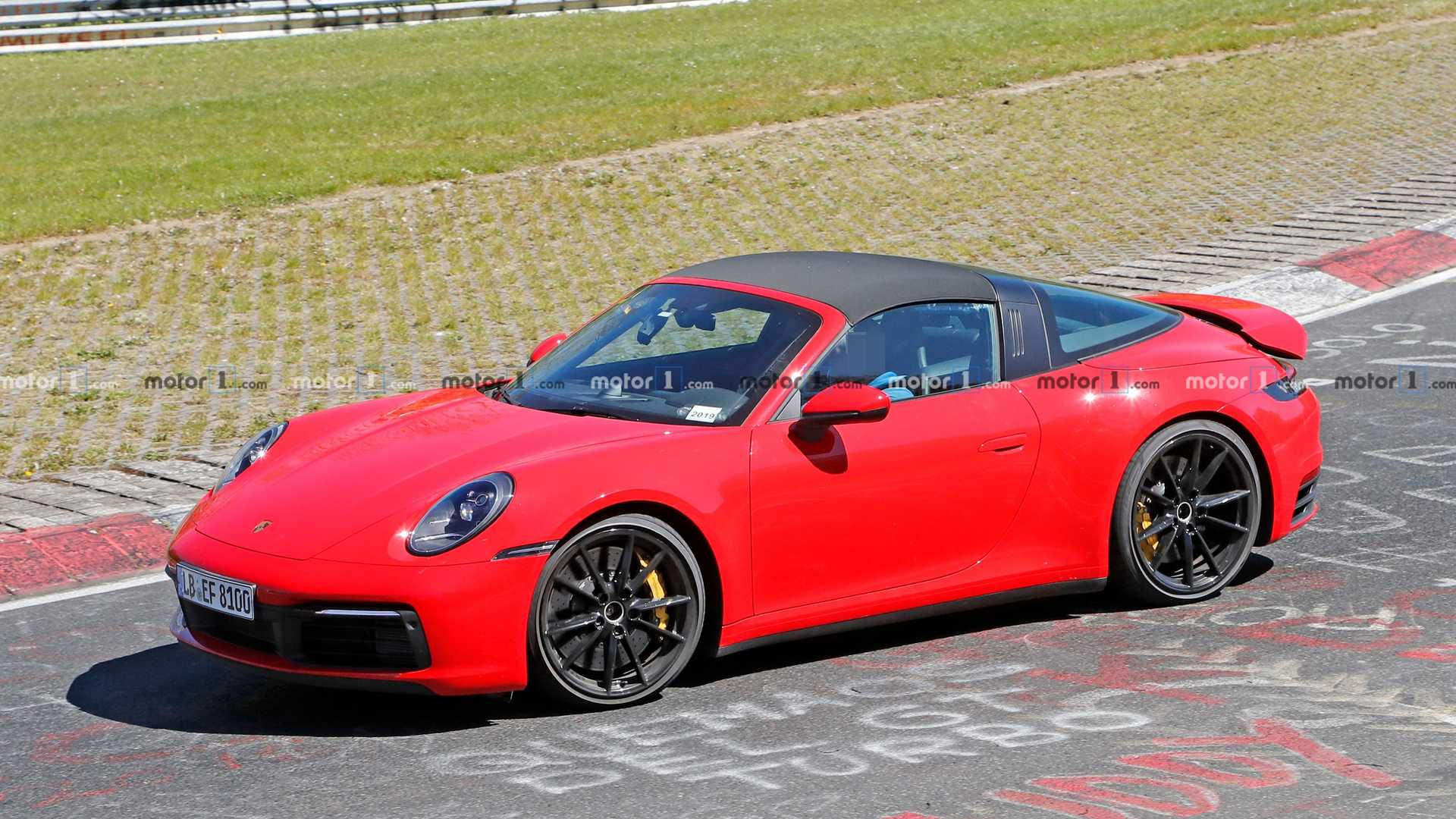 2020 Porsche 911 Targa Spied Looking Regal In Red At The \u0027Ring