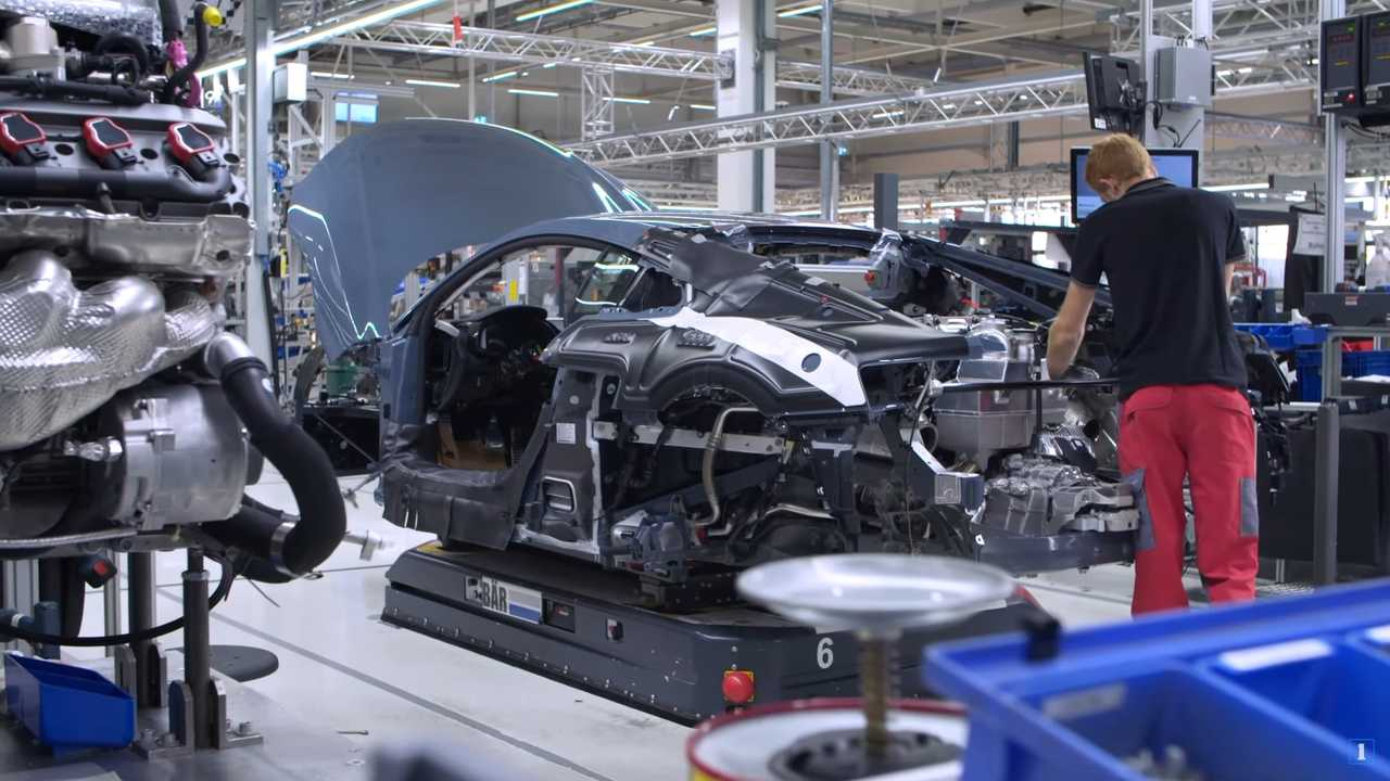 2020 Audi R8 production at the Böllinger Höfe factory