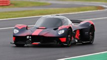 Aston Martin Valkyrie At Silverstone Circuit