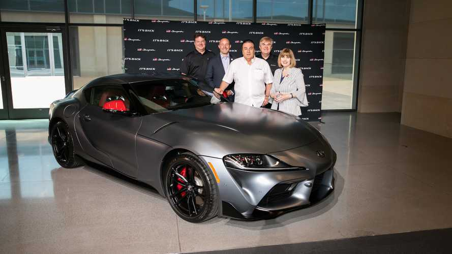 First Toyota Supra delivered, £1.6 million goes to charity