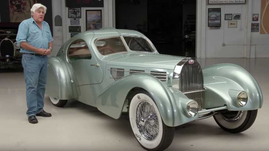 Check Out Jay Leno With A 1934 Bugatti Aérolithe