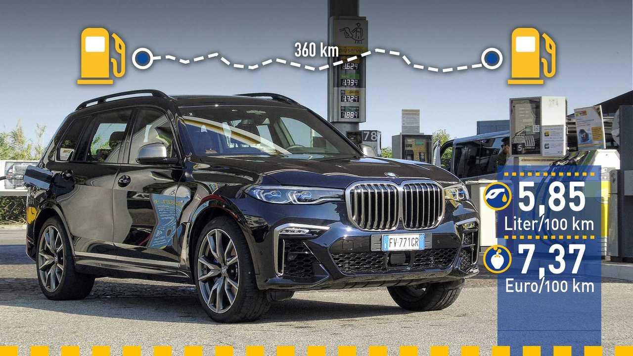 BMW X7 im Verbrauchstest