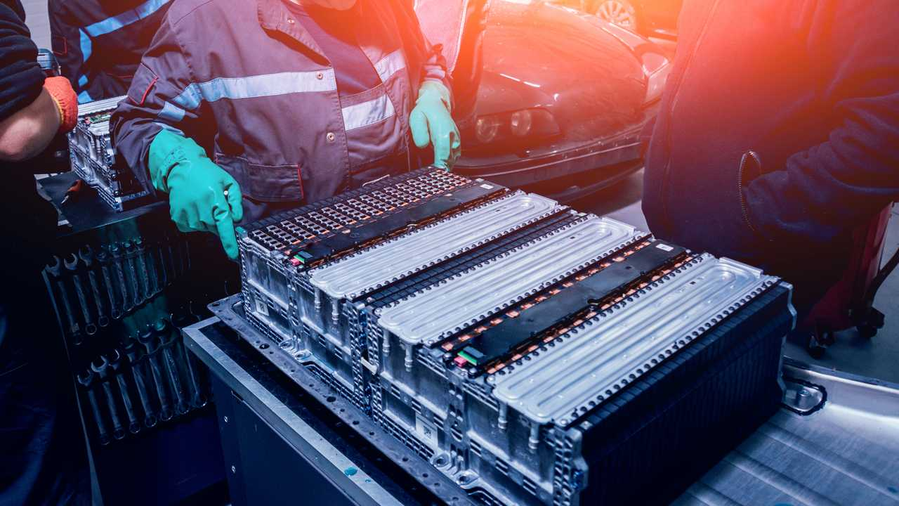 Battery of an electric vehicle