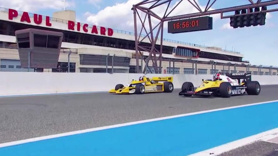 VIDÉO - Hülkenberg et Montagny découvrent les anciennes Renault F1
