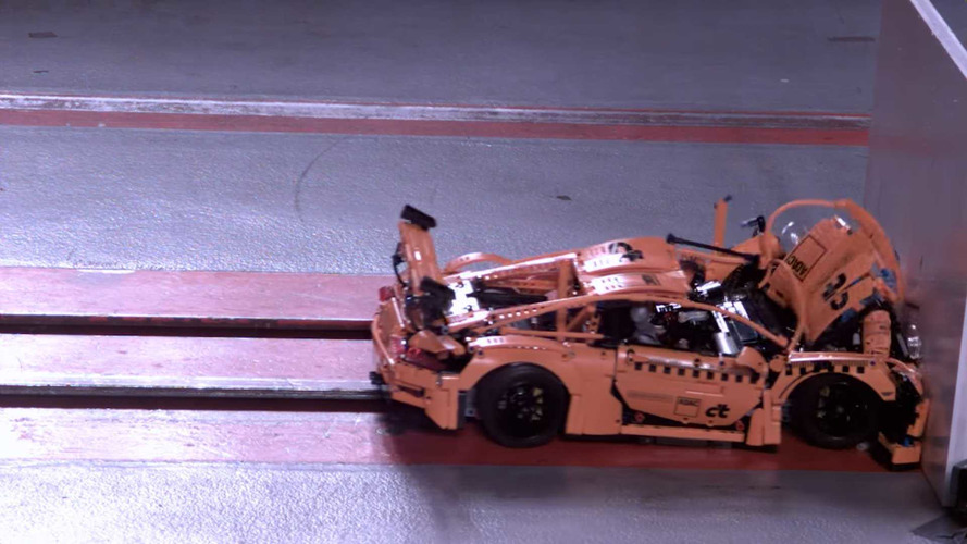 See This Lego Porsche 911 Explode In Hilarious Slo-Mo Crash Test