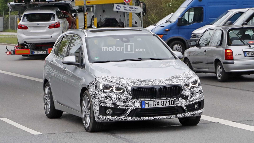 BMW 2 Series Active Tourer Facelift Caught With New Headlights