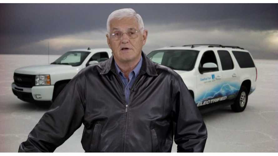 Bob Lutz Shoots Promo For Debut Of Three New Via Extended Range Vehicles