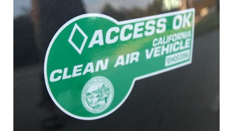 Slow Start To New Car-Pool Stickers For Plug-In Hybrids In California (VIDEO)
