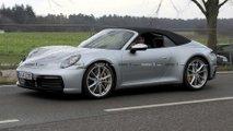 Porsche 911 Cabrio (2019) fast ungetarnt erwischt