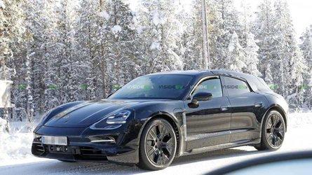 La Porsche Taycan Turismo surprise en essais sur la neige