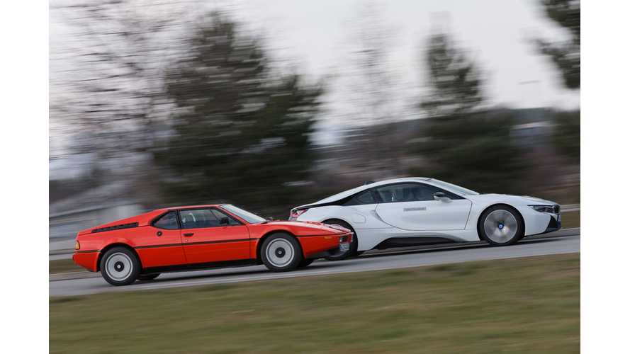 Photo Comparison: BMW i8 and BMW M1