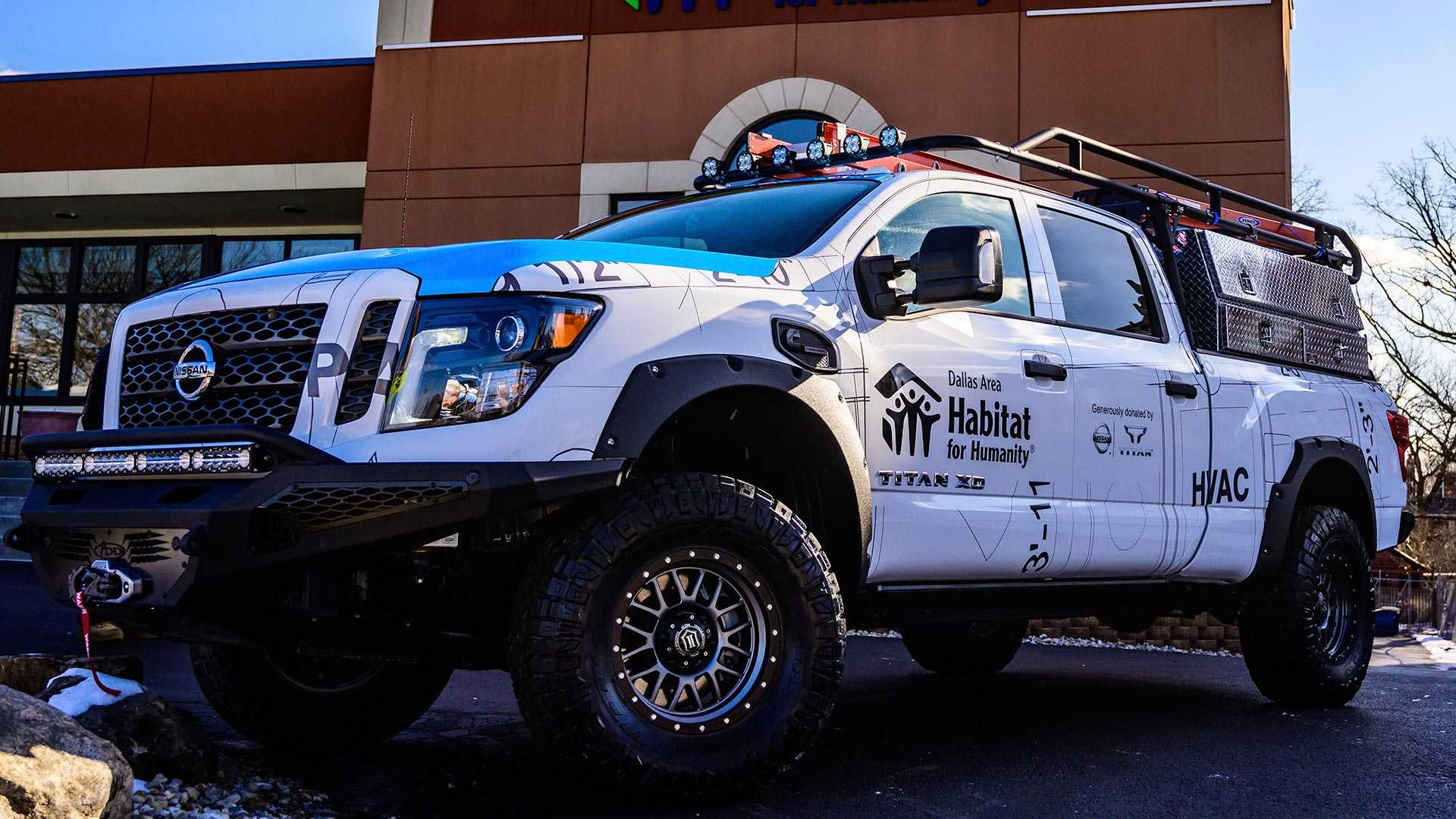 Build A Nissan >> Nissan Ultimate Work Titan Debuts Ready To Help Build Houses