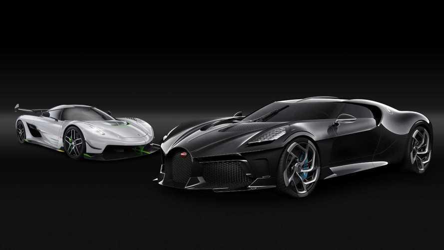 Bugatti La Voiture Noire vs. Koenigsegg Jesko, duelo en la cumbre