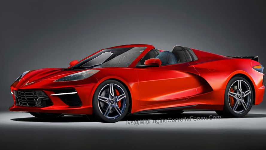 Mid-engined Corvette convertible renderings