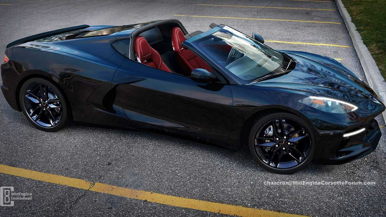 Mid-Engined Corvette Targa Top Render