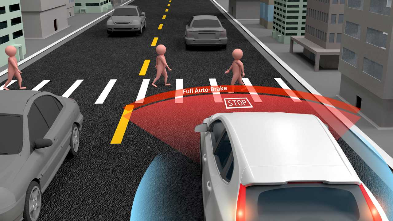 Emergency Braking Assist system avoids accidents