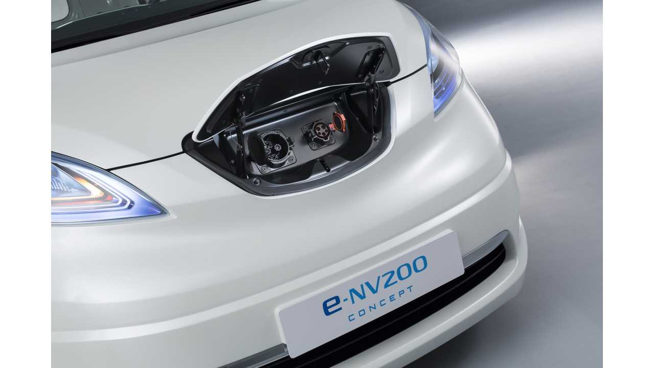 Nissan e-NV200 Concept charging inlets
